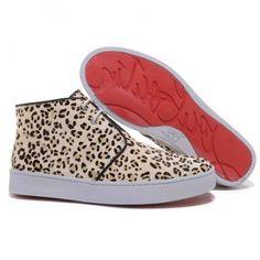 Christian Louboutin Leopard-Printed High Top Womens Sneakers - Christian Louboutin Shop