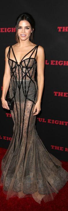 Jenna Dewan-Tatum In Marchesa – 'The Hateful Eight' LA Premiere