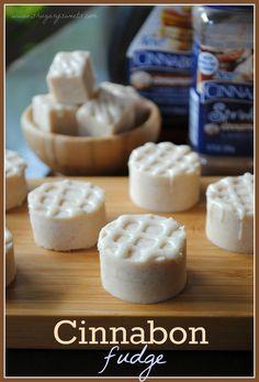 Cinnabon Fudge?  You had me at Cinnabon....Courtesy of; www.shugarysweets.com