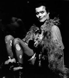 Anthony Stewart Head as Dr. Frank N. Furter from 'The Rocky Horror Picture Show', for the  1990–91 season West End revival.