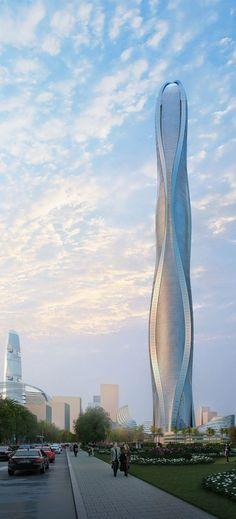 1 Park Avenue, Jumeirah Gardens Dubai, UAE by SOM & Adrian Smith + Gordon Gill Architecture :: 116 floors, height 550m
