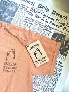 Crashed in the Dirt Roswell T-Shirt by CreatedByJim on Etsy