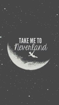 neverland, peter pan, and moon imageの画像