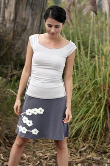 d3f3f859726a9 Hand Embroidered Cherry Blossom Organic Cotton Skirt - I LOVE this and it  flatters my shape