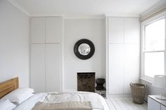 Built in wardrobes whilst keeping chimney breast. Built in wardrobes whilst keeping chimney breast. Alcove Wardrobe, Bedroom Wardrobe, Home Bedroom, Bedroom Suites, Bedroom Ideas, Victorian Terrace House, Victorian Bedroom, Victorian Homes, Edwardian House
