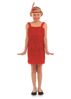 Red Flapper childrens dress up costume by Fun Shack