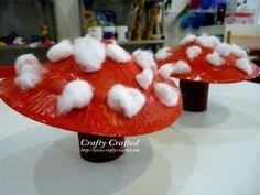 paper plate mushrooms