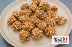 Total 10 Quinoa Almond Butter Balls: Be sure to pass these tasty treats around that pack a protein punch!