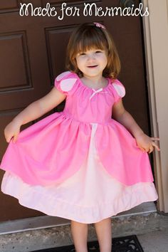Little Mermaid Pink Ariel Dress by madeformermaids on Etsy, $42.00