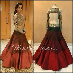 5eaa8ffdc3 Shine, like the whole universe is yours! looking glam in MischB Couture  mirrorwork lehenga