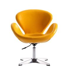 Add comfort to your living space with this plushy and modern CEETS Yellow Leatherette Raspberry Adjustable Swivel Chair. Pink Desk Chair, Diy Chair, Chair Upholstery, Chair Fabric, Chair Pads, Chair Cushions, Swan Chair, Swivel Barrel Chair, Eames Chairs