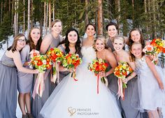 Snow wedding with Frances Photography.