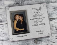 10x12 personalized canvas picture frame for mother of bride