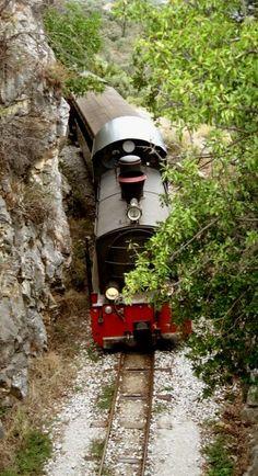Steam train of Pelion By Train, Train Tracks, Diesel, Myconos, Bonde, Old Trains, Steam Locomotive, Greece Travel, Train Station