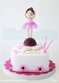 tarta decorada bailarina | von Dulce decoración (modelado - tartas decoradas)