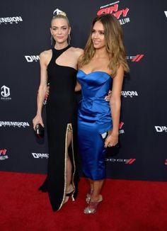 Jessica Alba and Jaime King at event of Sin City: Una mujer para matar o morir (2014)