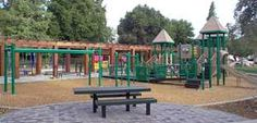 Stafford Park - super cute park with lots of trees offering shade and water sprinklers where kids can play.