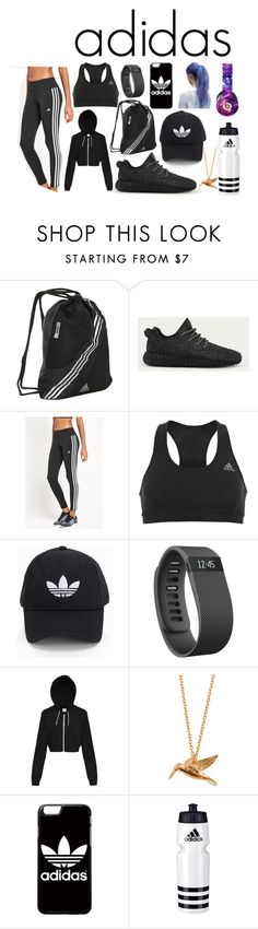 """adidas inspired work out outfit"" by unknownandloveit on Polyvore featuring adidas, adidas Originals, Fitbit, Alex Monroe and Beats by Dr. Dre"
