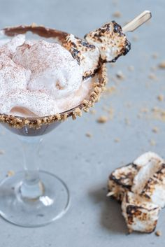 S'mores and fall camp fires are great together. Now enjoy this tasty treat as a cocktail! Delicious.