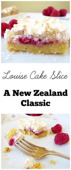 Louise Cake Slice - A New Zealand classic. Must try recipe! Kiwi Recipes, Sweet Recipes, Cake Recipes, Dessert Recipes, Vegan Recipes, Easy Desserts, New Zealand Food, Australian Food, Australian Recipes
