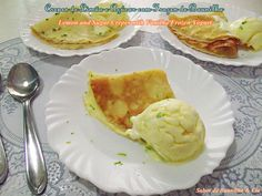 Crepe de Limão e Açúcar com Frozen de Baunilha – Lemon and Sugar Crepes with Vanilla Frozen Yogurt