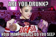 Russia's Aliya Mustafina with her medals: Gold in Uneven Bars, Silver in Team, Bronze in All-Around and Floor. Funny Gymnastics Quotes, Gymnastics Posters, Gymnastics Competition, Elite Gymnastics, American Gymnastics, Aliya Mustafina, London Olympic Games, Olympic Medals, Gabby Douglas
