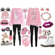"""Pretty In Pink"" by laurakhamner on Polyvore"