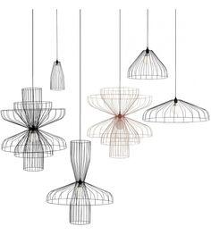 Parachute Ligne Roset Lampada a Sospensione - Milia Shop Suspended Ceiling Lights, Ceiling Lamp, Ligne Roset, Ikea Vintage, Hanging Lamp Design, Modern Lamp Shades, Rustic Lamps, Cool Lamps, Wooden Lamp