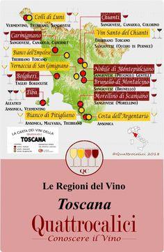 Tutte le informazioni sui vini della Toscana nelle Guide di Quattrocalici