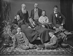 An unidentified, thoroughly interesting, and fun looking Irish family from the 1890s. #family #portrait #Ireland #Irish #Victorian #19th_centuy #1800s