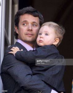 Crown Prince Frederik & Son Christian Appear On The Balcony Of Amalienborg Palace To Celebrate Queen Margrethe Ii Of Denmark'S Birthday In Copenhagen. Get premium, high resolution news photos at Getty Images Denmark Royal Family, Danish Royal Family, Prince Christian Of Denmark, Divorce, Prince Frederick, Queen Margrethe Ii, Family World, Danish Royalty, Handsome Prince