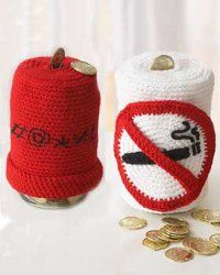 Crocheted Cozies to End Swearing/Smoking ~ I need the stop swearing one.