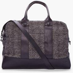 Rag & Bone Charcoal Herringbone Wool Aviator Duffle Bag in Gray for Men (charcoal) - Lyst