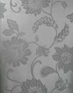 Lillith Silver Jacobean Trail - Wallpaper