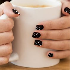 Get yourself some fun Manicure nail art from Zazzle! Check out our unique assortment of nail wraps right now! Minx Nails, Gel Nails, Acrylic Nails, Nail Polish, Coffin Nails, Marble Nails, Nail Manicure, Minimalist Nails, Polka Dot Nails