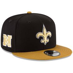 ff38c4c5b New Orleans Saints New Era Youth Baycik Snapback Adjustable Hat Black Gold. NFL  Caps   Hats
