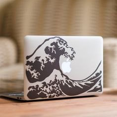Great Wave MacBook Decal Sticker by FP from DecalGirl