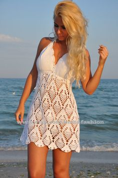This White Crochet Dress Crochet Beach Dress Crochet Wedding is just one of the custom, handmade pieces you'll find in our dresses shops. Crochet Beach Dress, Crochet Wedding Dresses, Modest Wedding Gowns, Black Crochet Dress, Crochet Girls, Princess Wedding Dresses, Crochet Lace, Dress Wedding, Boho Wedding