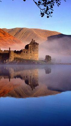 ✿⊱ Kilchurn Castle, Loch Awe, Argyll and Bute, Scotland