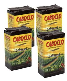 Cafe Caboclo 500g  Torrado e Modo  Roast and Ground Coffee 1760oz PACK OF 4 GLUTEN FREE * Check out this great product.