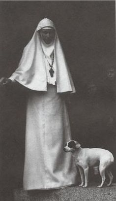 Grand Duchess Elizavetta in Russian Orthodox nun's attire
