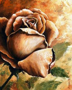 Easy acrylic painting ideas flowers easy modern painting ideas easy acrylic canvas painting ideas for beginners Simple Oil Painting, Apple Painting, Oil Painting For Beginners, Easy Canvas Painting, Beginner Painting, Acrylic Canvas, Painting & Drawing, Canvas Art, Rose Oil Painting