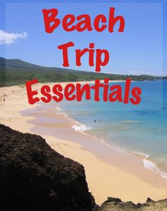 Beach Trip Essentials - what things to take to the beach  #beach #vacation #sp #LetsTalkBums