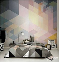 Mountain Mural Wall Art #SimpleShapes | Simple Shapes Shop ...