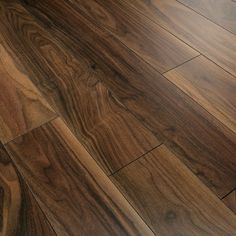 Lounge B Option flooring: Series Woods 10mm American Black Walnut V Groove Laminate Flooring - 13.20/m2 - a glossy dark floor would lend a real air of glamour to the room and pick up on the original walnut fireplace.