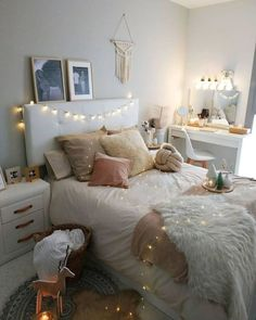 55 Creative Bohemian Bedroom Decor Ideas 55 Creative Bohemian Bedroom Decor Ideas These trendy Home Decor ideas would gain you amazing compliments. Check out our gallery for more ideas these are trendy this year. Bedroom Decor For Teen Girls, Bohemian Bedroom Decor, Girl Bedroom Designs, Teen Room Decor, Room Ideas Bedroom, Teen Bedroom, Bedrooms, Fall Bedroom, Bedroom Photos