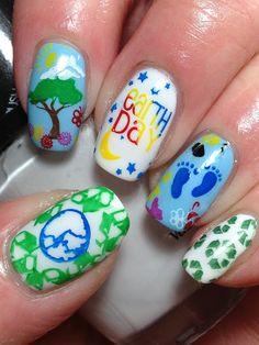 Earth Day! #nail #nails #nailart