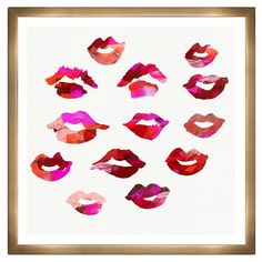 Lip Prints of girlfriends to take with me as I travel
