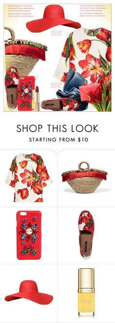 """""""Carry on: Straw Bags"""" by dragananovcic ❤ liked on Polyvore featuring Dolce&Gabbana and H&M"""