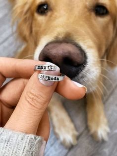 Personalized Overlapping Pawprint Ring is available in sterling silver as well as in and white, yellow, rose gold. Shop our Pet Lovers Collection NOW Love Dogs, Cute Dogs And Puppies, Puppy Love, Doggies, Cute Little Animals, Cute Funny Animals, Dog Accessories, Dog Toys, Animals And Pets